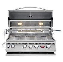 Lloyds Material Supply Co Cal Flame 4-Burner Built-In Convection Grill with Rotisserie