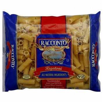 KeHe Distributors 60877 RACCONTO PASTA RIGATONI - Case of 20 - 16 OZ