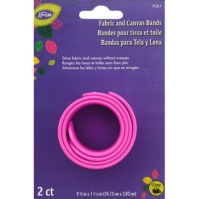 Dritz LoRan Fabric & Canvas Silicone Bands 2/Pkg-9.5