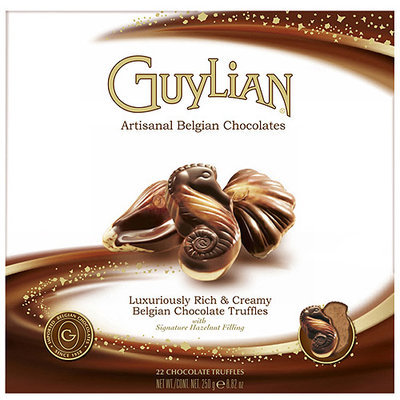 Guylian Chocolate Truffles Seashell Box 8. 8 Oz (Pack Of 12)