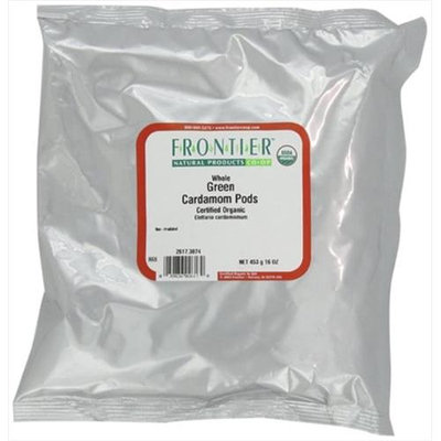 Frontier Natural Products - Cardamom Pods Green Whole Organic - 1 lb.