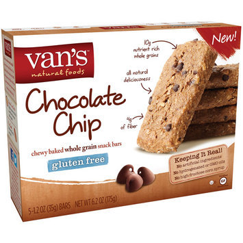 Van's Natural Foods Chewy Baked Whole Grain Snack Bars Gluten Free Chocolate Chip - 5 Bars