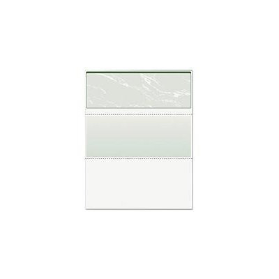 Paris Corp PRB-04502 Docuguard Check Paper - For Laser Inkjet Print - 500 / Ream - Marble Green