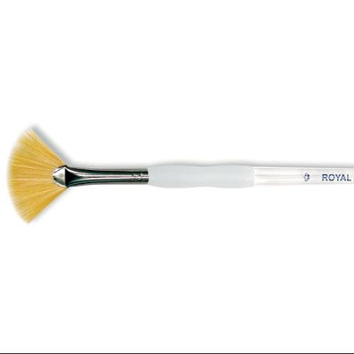 Royal Brush 270005 Soft-Grip Golden Taklon Fan Brush-Size 6