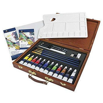 ROYAL BRUSH RSET-ACR2030 Acrylic Painting Wooden Box Art Set RBMY1650