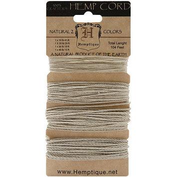 Hemptique HCMWNA Hemp Cord Assortment 104 Feet-Pkg-Natural