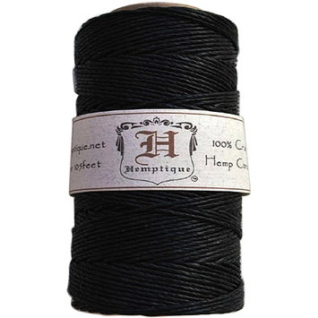 Hemptique HS20-LTBR Hemp Cord Spool 20 No. 205 Feet-Pkg-Light Brown