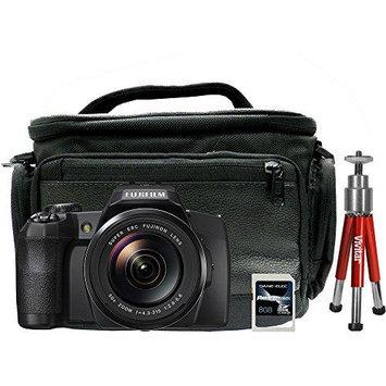 Fuji 16408967-4-KIT FinePix S1 16MP Digital Camera with 8GB SD Card Mini Tripod and Case (DSLR-1000)