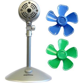 Keystone Fans 10 in. Flower Personal Fan with Interchangeable Blades in Blue and Green KSTFF100ABN