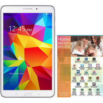 Samsung Tablets 7 in. Galaxy Tab 4 with 8GB Memory and Home App Suite - White SM-T230NZWA-2X-KIT