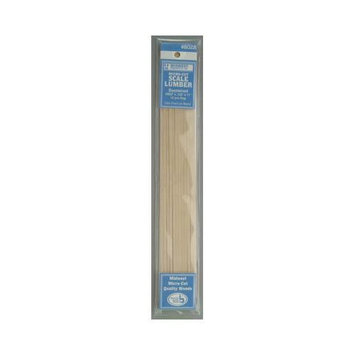 Midwest Micro-Cut Basswood Scale Lumber 0.083 in. 0.125 in. x 11 in. pack of 12