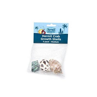 Flukers FLUKER'S Hermit Headquarters Hermit Crab Growth Shells Medium/3 Pack Assorted