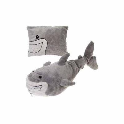Fiesta Shark Peek-A-Boo Plush Transforming Pillow - 19 Inches