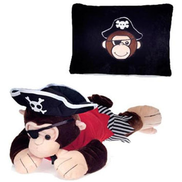 Pirate Monkey Peek-A-Boo Plush Pillow 19 by Fiesta