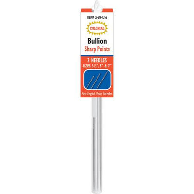 Colonial Needle Bullion Needles-Sharp Points Sizes 3.5