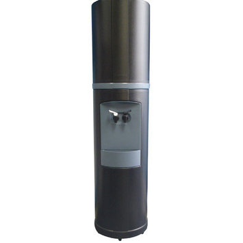 Aquaverve Water Coolers Fahrenheit Bottled Water Cooler Temperature: RoomTemp/Cold, Finish: Black with Galveston Gray