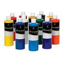 Chroma Chromacryl Premium Acrylic Paint, 1-Pint, Set of 12