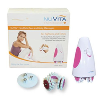 Roscoe Medical HBM1001 NuVita Handheld Face and Body Massager System, White