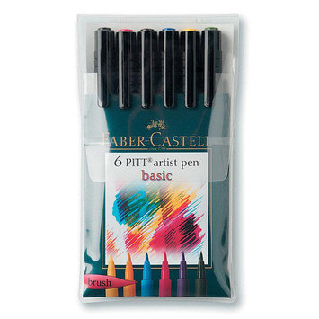 Alvin & Company Alvin FC167104 Artist Brush Pen 6 Grays
