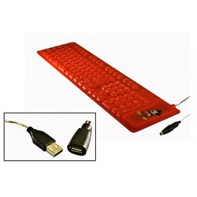 Targus Mickey Mouse Flexible Mobile Keyboard - Wired - RedPS/2, USB