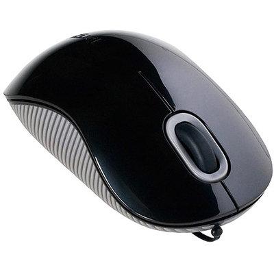 Targus AMU76US Cord-Storing Optical Mouse - Black/Gray