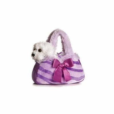 Aurora Plush Purple Pretty Pup FancyPal Purse