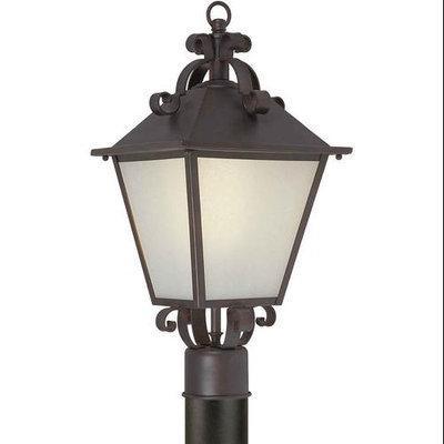 Series 483 Fluorescent Antique Bronze One-Light Outdoor Post Light