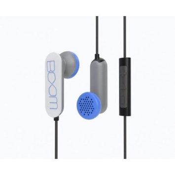 BOOM Spooners Earbud Headphones with In-Line Mic (White)
