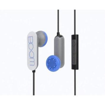 BOOM Spooners Earbud Headphones with In-Line Mic (White)