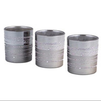 Melrose 18 Two-Tone Silver Gray Embellished Glass Christmas Votive Candle Holders 3