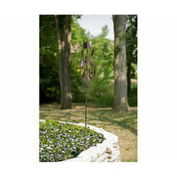 Panacea PAN88864 63 inch Vertical Bronze Leaf Kinetic Art Windmill