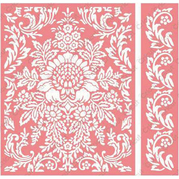 Cuttlebug Anna Griffin Juliet Damask Embossing Folder and Border Set