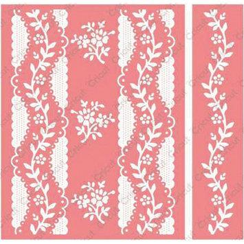 Cuttlebug Anna Griffin Organdy Stripe Embossing Folder and Border Set