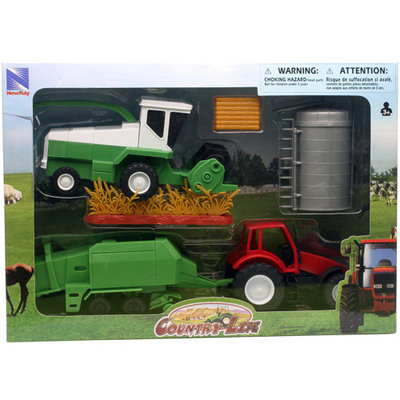 Country Life Farm Tractor and Harvester Set