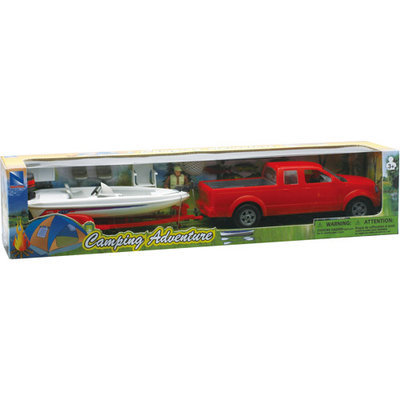 1:20 Pick Up Truck with Trailer and Fishing Boat Set