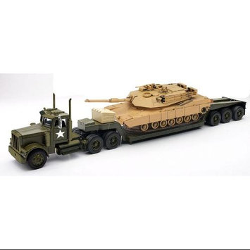 Newray Toys 1:32 Scale Die-cast Freightliner Lowboy With M1a1 Tank