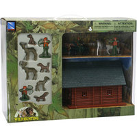 Wild Hunting Deer Set with Lodge