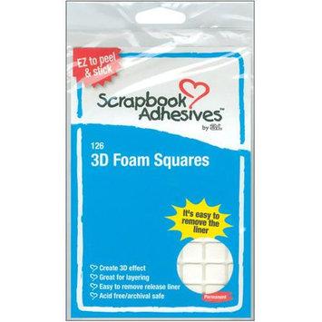 3L Corp 1610 3D Permanent Foam Squares 126/Pkg