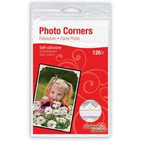 3L Corp 3L-PC-1625 Classic Style Paper Photo Corners .5 Self Adhesive 126/Pkg