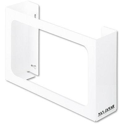 San Jamar G0804 White Enamel Disposable Glove Dispenser Three-Box 18w x 3-3/4d x 10h