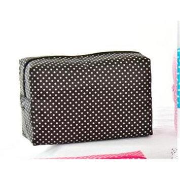 Pendergrass Inc 5208 Black Large Polka Dot Cosmetic-Travel Bag