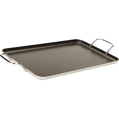 Imusa Double Burner Griddle Black More than 14 in.
