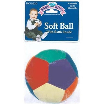 DDI 1187030 Baby Soft Play Ball with Rattle Inside