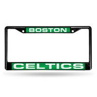 Rico Inc Rico Industries RIC-FCLB74001 Boston Celtics NBA Laser Cut Black License Plate Frame