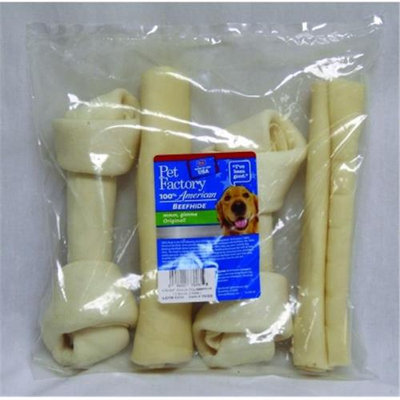 American Beefhide 6-Inch Beefhide Rolls and Knotted Bones - 4 Count