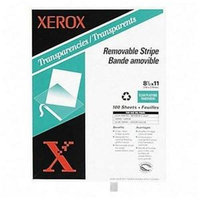 Xerox 3R3108 Removable Stripe Copier Transparencies Clear [100 Sheets/box]
