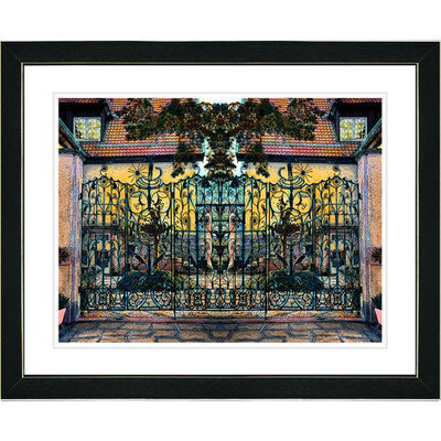 Studio Works Modern 'Yellow Atrium Labyrinth' Framed Print