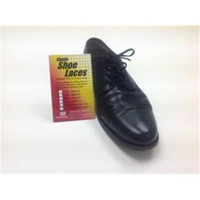 Helping Hand Company HU270B Elastic Shoe Laces - 2 Pair 27 In. Black
