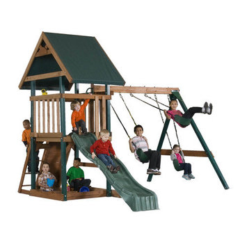 Backyard Play Systems Wood Boulder Creek Swing Set