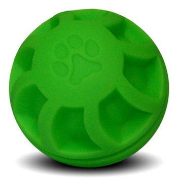 The Swirl Ball Dog Toy - Green - 4 in